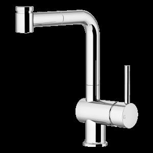 Miscelatore lavello con doccia estraibile 2 getti Cromato GATTONI