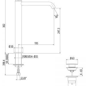 Miscelatore lavabo alto Cromato GATTONI